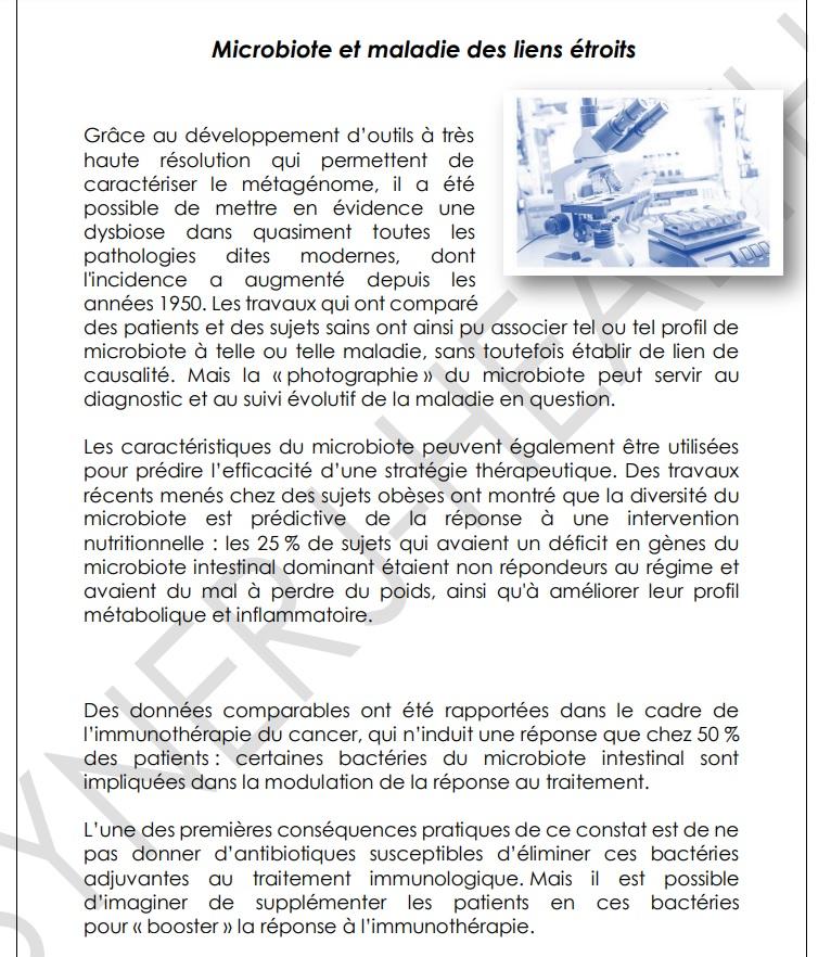 Microbiote et maladie des liens etroits 4