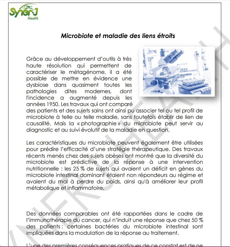 Microbiote et maladie des liens etroits